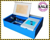 Acrylic / Mini Laser Engraving Machine Stepper Motor System Aluminum Platform Worktable
