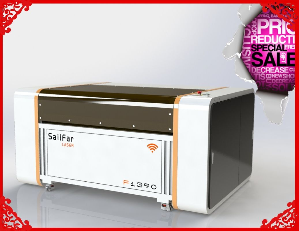 Adjustable Thickness CO2 Laser Cutting Machine 1390 With 100W Laser Tube