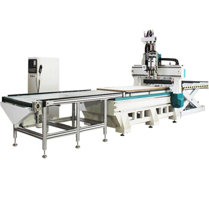 4x8ft 2 Station And 2 Process Small Cnc Router Machine With Row Drilling Machine